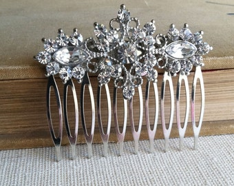 Art Deco Comb, Bridal Hair Comb, Art Deco headpiece, filigree bridal comb, crystal hair accessories head piece wedding rhinestone FILIGREE