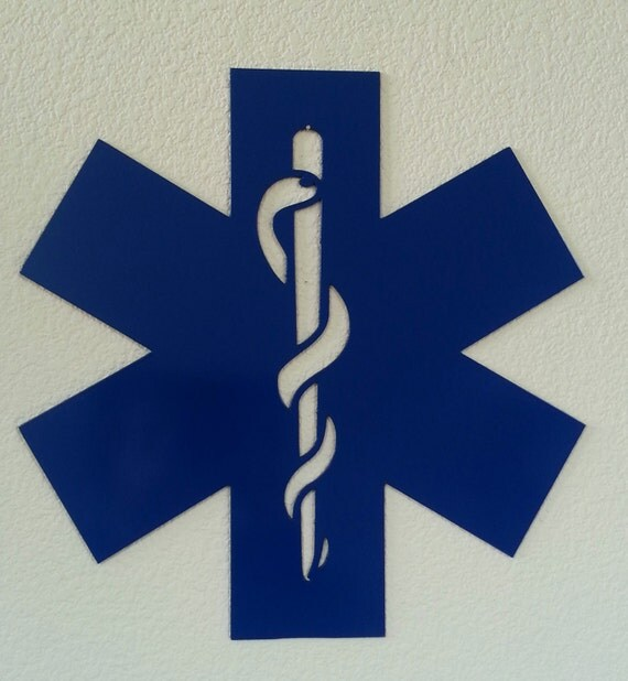 EMT Star of life metal wall art