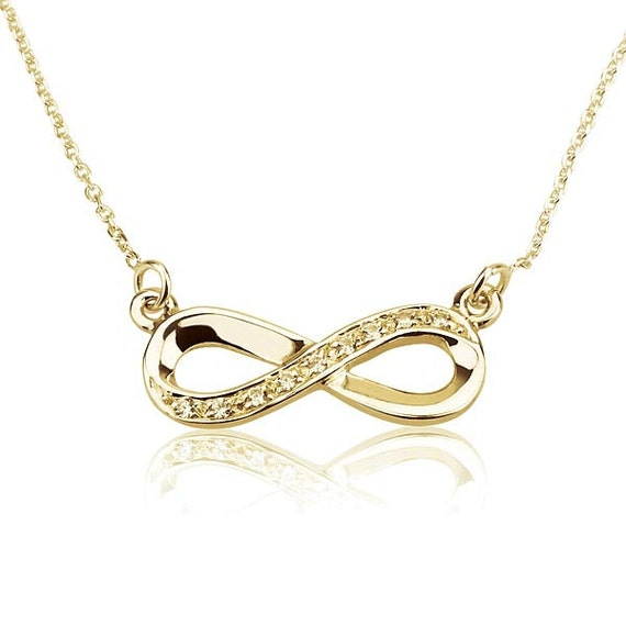 infinity necklace gold infinity pendant by