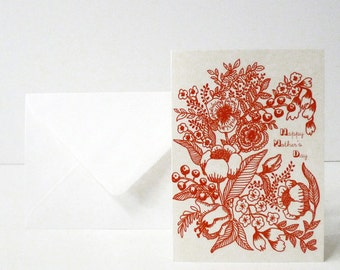 """1 """"Happy mother's day"""" card - Carte """"Happy mother's day"""""""