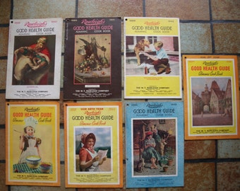 Vintage Rawleigh's Good Health Guide Almanac And Cooking Pamphlets Lot Of 7