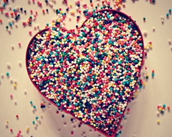 Candy Sprinkles Photography Heart Bakery Decor Candy Shop Colorful Kitchen Decor Gift for Bakers