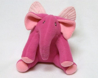 Plush elephant toy with butterfly wings