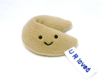 Pretend food plush cookie toy with custom message