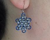 Chainmaille Snowflake Earrings