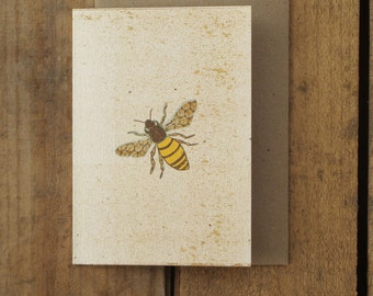 Speckled Bee Card