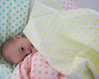 Baby Quilt ... Neon Yellow Spots ... Made to Order