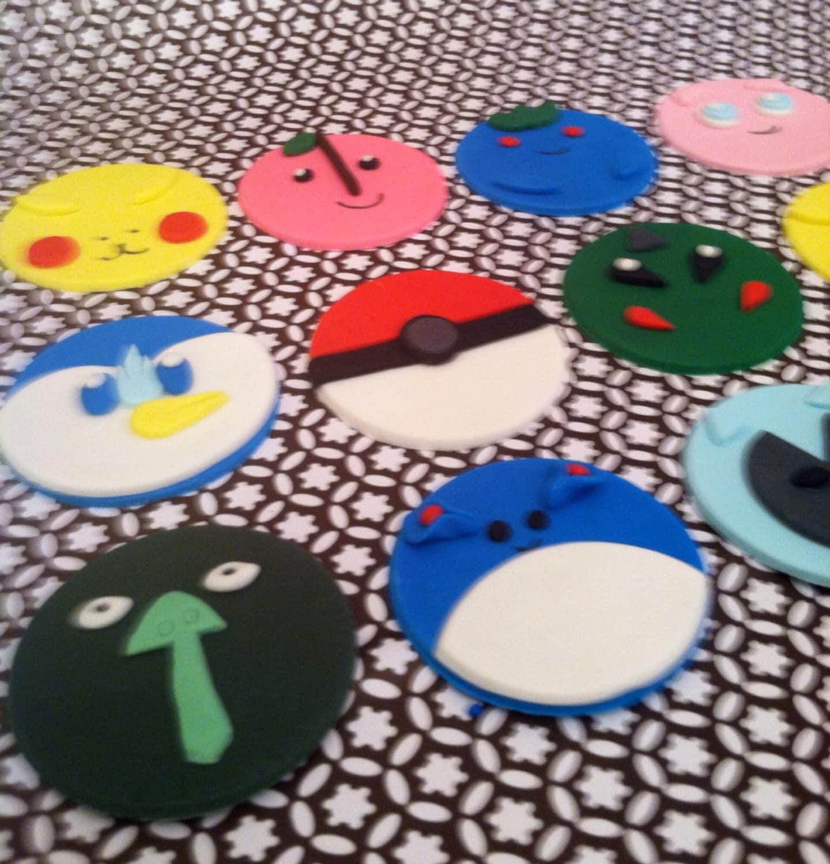 Pokemon Cupcake Rings Pokemon Cupcake Toppers