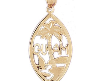 Yellow Gold-plated 925 Sterling Silver Guam Pendant - AZ5027GPDZ