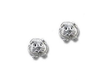 Pewter Guinea Pig Post Earrings