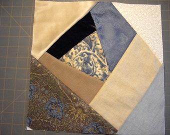 Ooak! Crazy quilt square patchwork panel