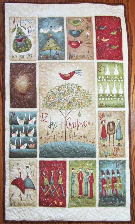 Christmas Quilt 12 Days Of Christmas