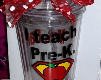 Pre-K Teacher Gift -  Pre-K gifts - Pre-K Teachers - Personalized Pre-K Teacher Gift - Teacher Appreciation Gift - Teacher Mug - Teacher Cup