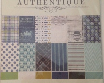 SALE AUTHENTIQUE - Suave Collection - 12 x 12 Double Sided paper, Stickers