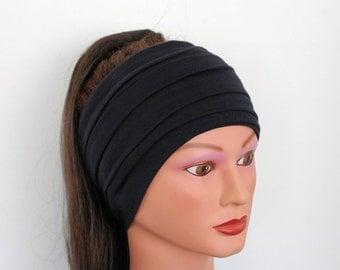 Silk Black Head Scarf 6