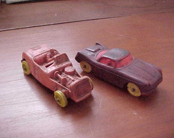 Pair 1950's Auburn Rubber Rat Rods Roadster and 2 Door Coupe by Auburn Rubber Great Find Good-VG Condition Rare Kustom Kool