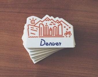 Denver Skyline Sticker