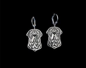 Neapolitan Mastiff earrings - sterling silver