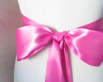 Garden Rose Bridal Sash / Double Face Sash  Ribbon /  Ribbon Sash /  12ft / 9ft / 6 ft sash