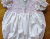 Baby Girl  Romper Vintage 12 mos Smocked