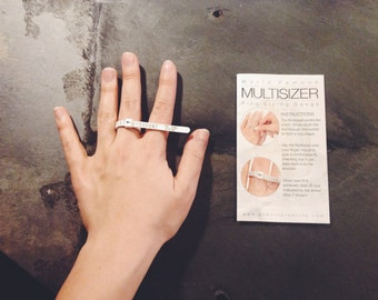 Adjustable reusable ring sizer