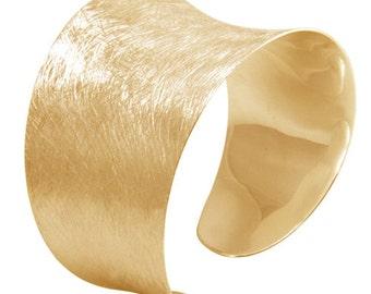 Silver bracelet gold plated 35 mm (925 Sterling Silver)