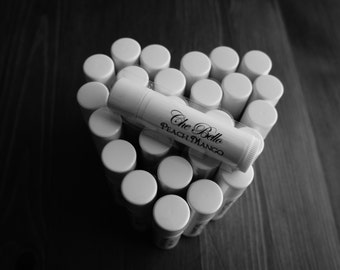 You Pick 25 Flavored Beeswax Lip Balm Tubes Made to Order Favors, Gifts, Weddings, Parties