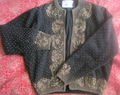 Gene Shelly Boutique International Beaded Sweater Holidays New Year's Eve on sale