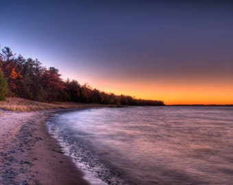 Sunset Photography, Beach Photo, Leelanau, Lake Michigan, Haserot, Traverse City, Michigan Photo, Photograph, Old Mission Peninsula, Art