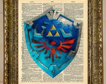 Legend of Zelda Shield Dictionary Art