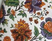 Linen Cotton Dish Towels Tea Towels Chrysanthemum Roses Flower Tea Towels set of 2