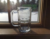 Etched Beer Mug - Daddy's Sippy Cup