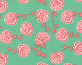 MODA Into The Woods Floral Wild Roses Light Green 5001 16 HALF YARD by Lella Boutique
