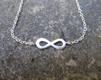 Infinity Charm Necklace - Sterling Silver.