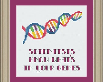 Scientists know what's in your genes: nerdy cross-stitch pattern