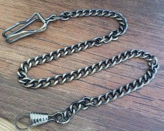 1pieces Antique Bronze  pocket watch chain