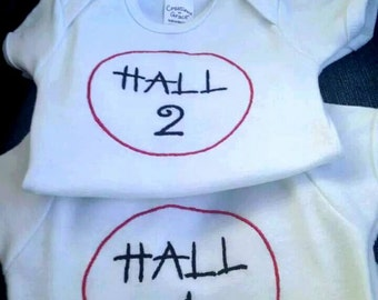 Thing 1 and Thing 2 shirt set- Custom Embroidered Bodysuits or T-shirts for boys or girls