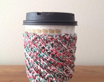 Crocheted Christmas Coffee Cozy