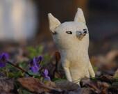 Little Foxy Lusy, tiny fox, miniature toy fox, primitive toy fox