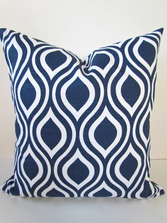 Blue Throw Pillow 20x20 : DARK BLUE PILLOW 20x20 Decorative Throw by SayItWithPillows