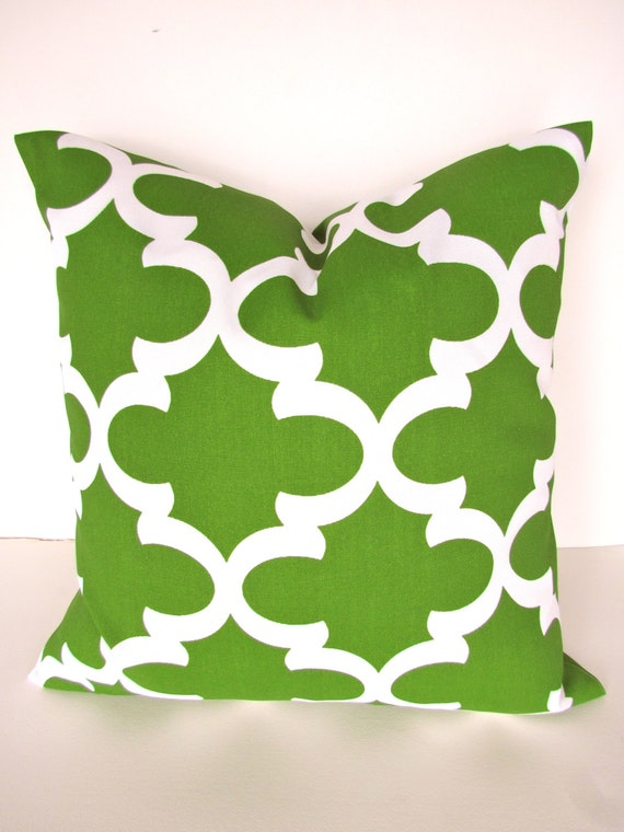 PILLOW Cover 16x16 green Indoor Outdoor by SayItWithPillows