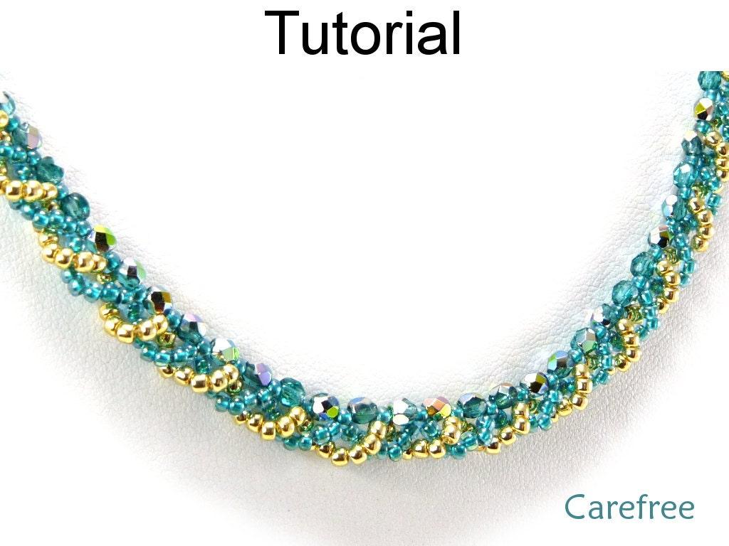 beginner necklace beading pattern jewelry tutorial