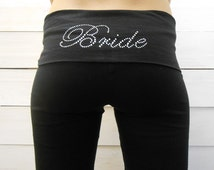 Bride Pants. MRS. Yoga Pants. BRIDE Yoga Pants. Bridal Yoga Pants. Bride Sweatpants. Bridal Sweatpants. Bride Gift. Wifey Yoga Pants. BRIDE.