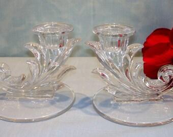 Baroque by Fostoria Crystal Elegant Glassware Candlesticks