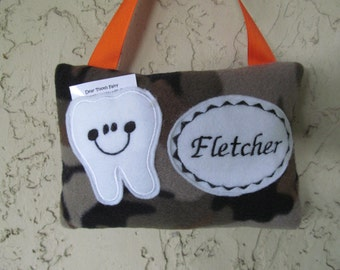 Tooth Fairy Pillow Camo Toothfairy Personalized