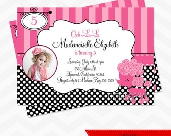 Pink Poodle Invitation