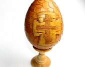 Birch bark Egg with a cross Orthodox