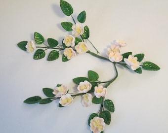 rose spray cake topper wedding bridal spring gumpaste sugar edible wild japanese roses pink keepsake