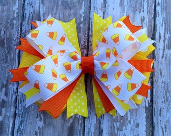 Candy Corn Boutique Hairbow