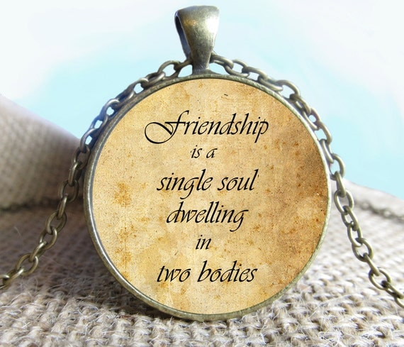 Friendship Quotes Jewelry: Friendship Quote Pendant/Necklace Jewelry Fine Art Necklace